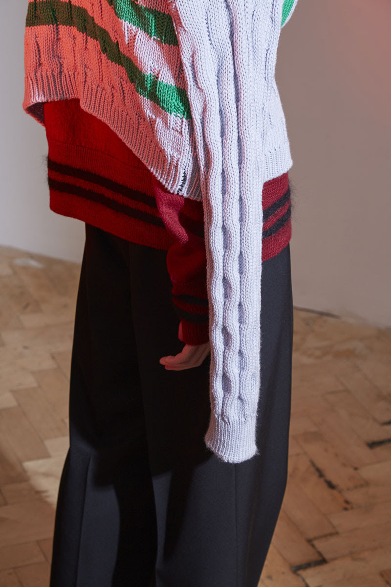 Marni Stripe Crew Neck Knit Sweater