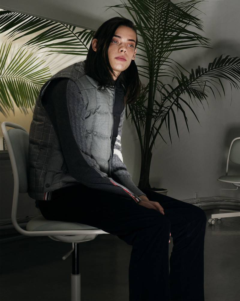 Thom Browne Black & White Down Funmix Vest