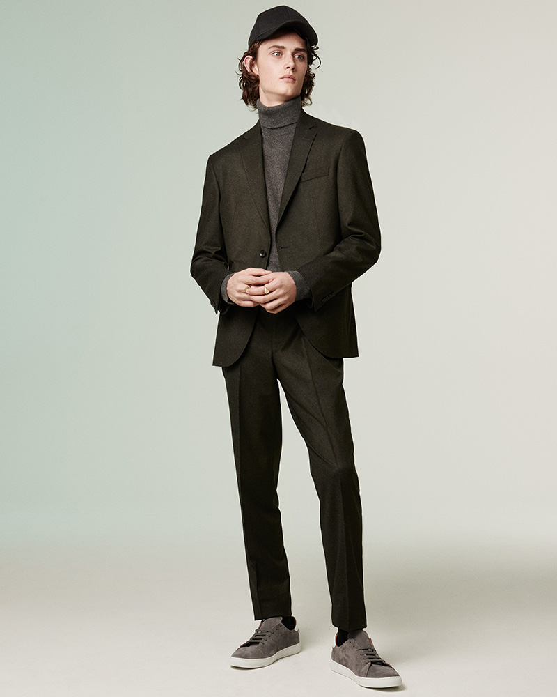 Barneys New York Fabio Mélange Wool Two-Button Sportcoat