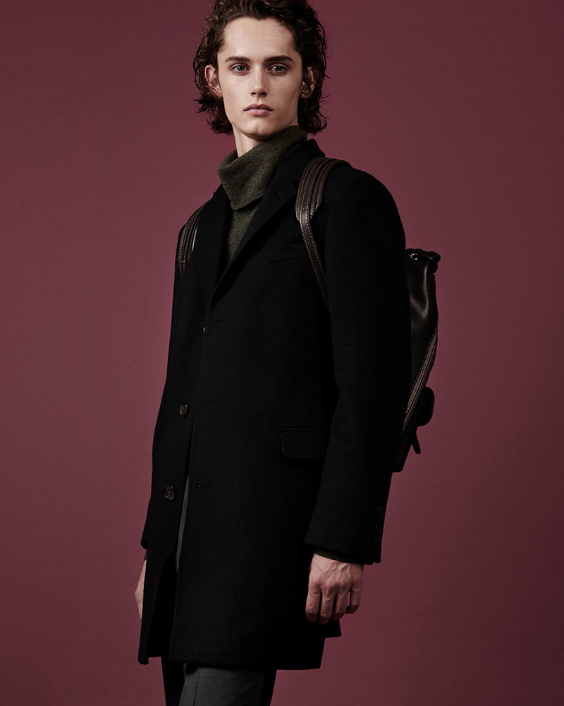 Barneys New York Odessa Striped Wool-Cashmere Felt Overcoat