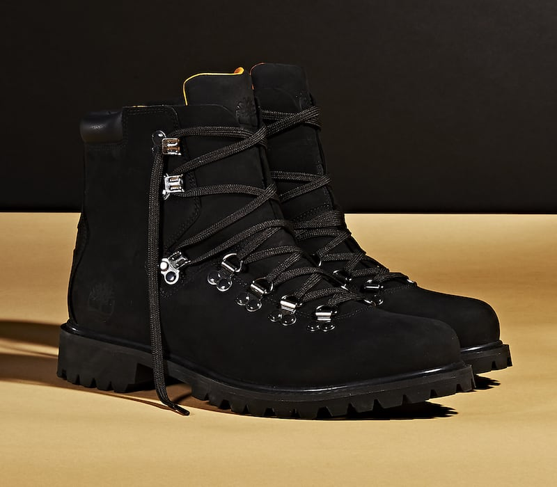 "BNY Sole Series x Timberland Black ""Authentic Hike"" Nubuck Boots"