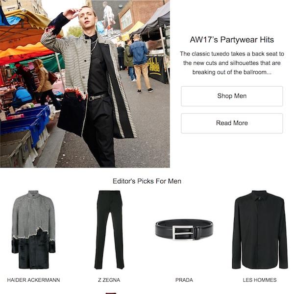 Farfetch Fall 2017 Men's Partywear Hits