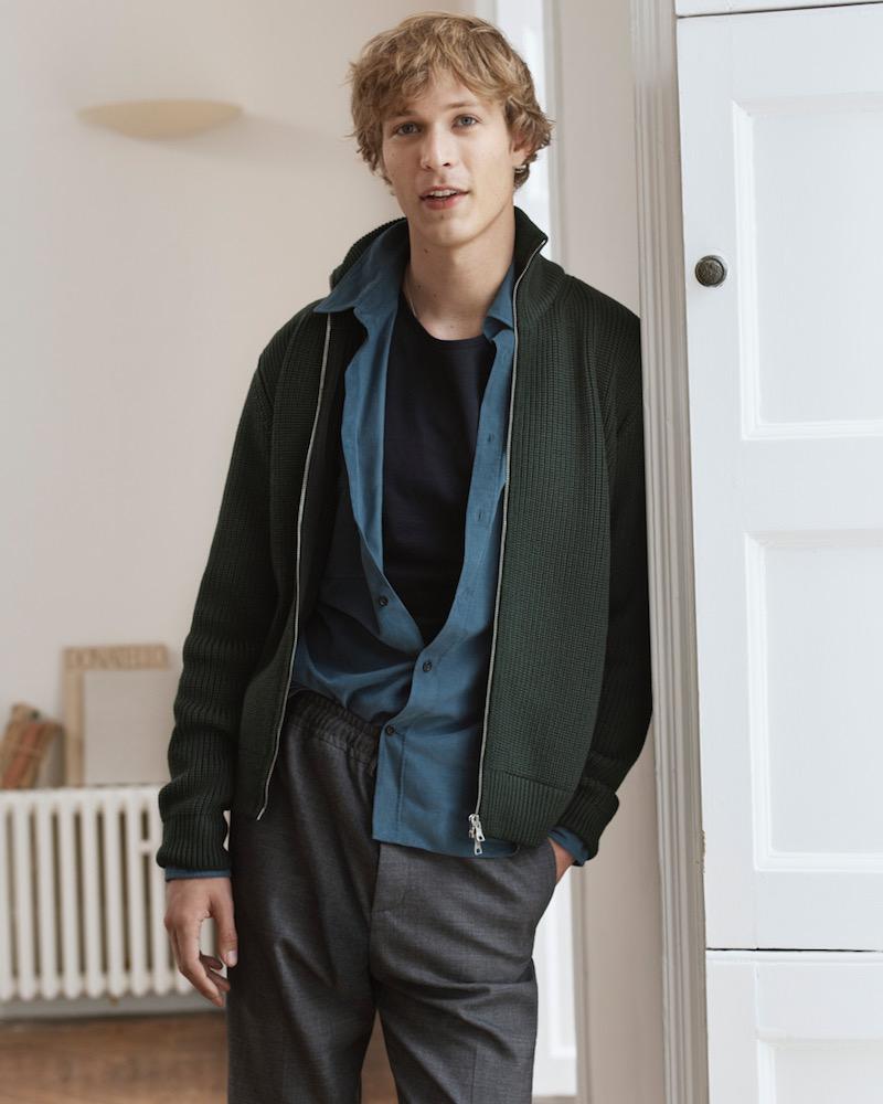 Mr P. Ribbed Merino Wool Zip-Up Sweater