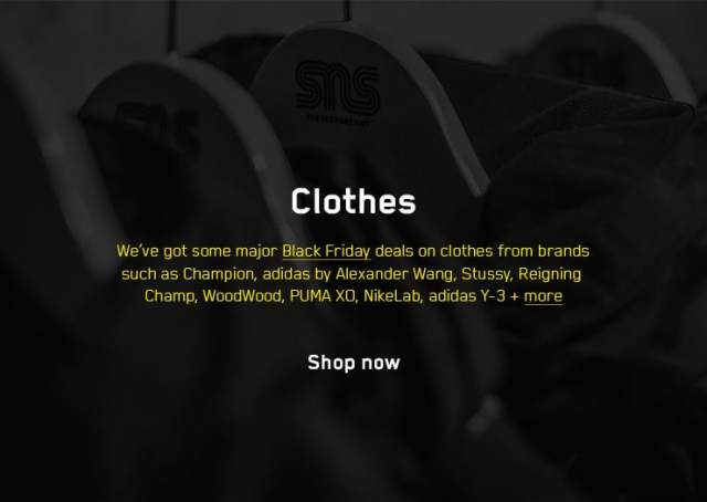 Sneakersnstuff Black Friday 2017