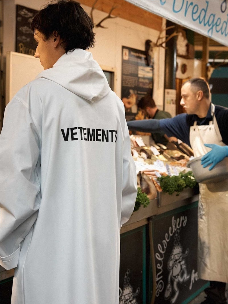 Vetements Oversized Hooded Raincoat