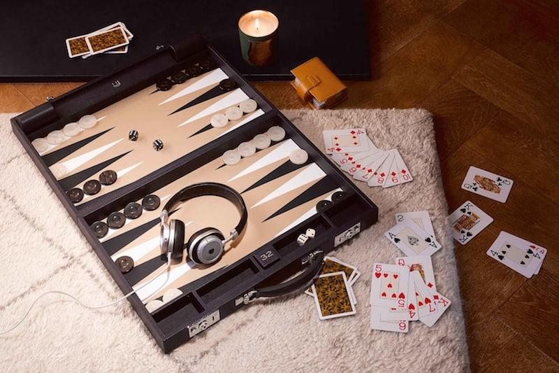 Dunhill Boston Leather Backgammon Set