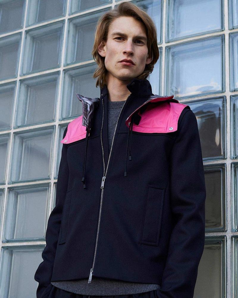 Valentino Detachable-Hood Wool-Twill Jacket