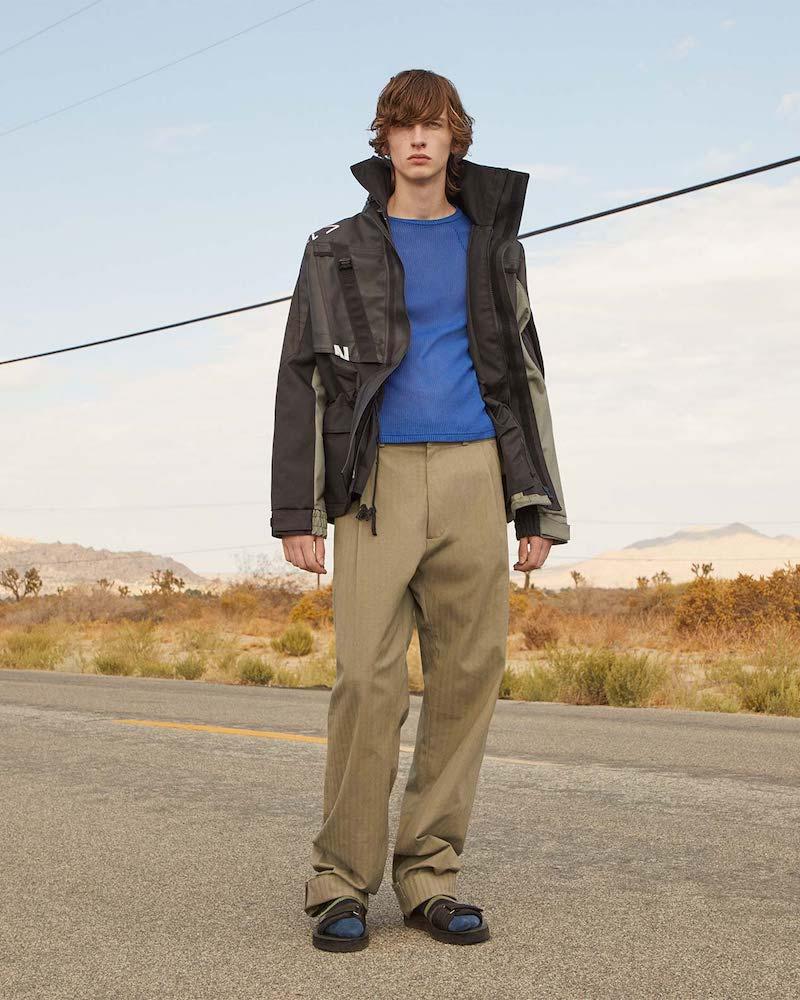 GmbH Tarek Pleat-Detail Cotton Trousers