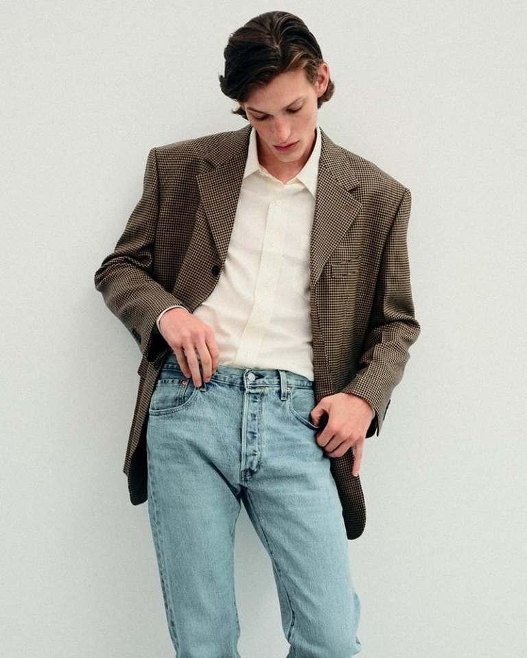 Ami Alexandre Mattiussi Wide Viscose & Virgin Wool Flannel Shirt