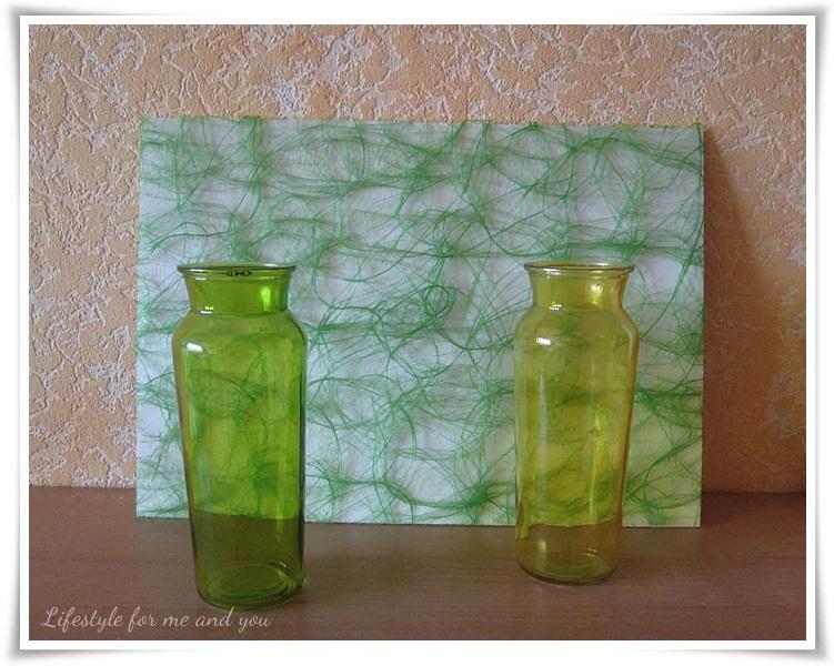DIY_Spanplatte_Hintergrund_Untergrund_gruener-Stoff-mit Vasen-Hintergrund1