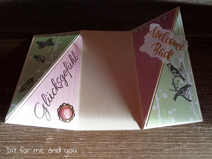 Diagonal Gate Fold Card