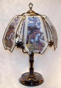 """Giraffe and Baby Touch lamp 24"""" with Warranty and Brass ..."""