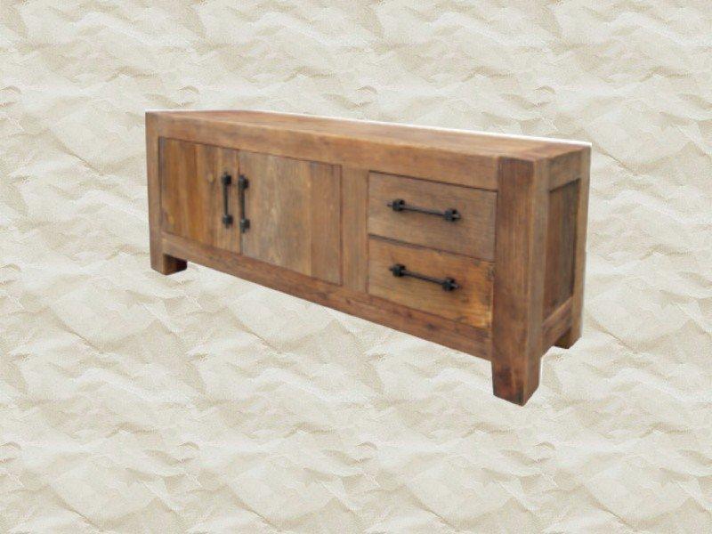 Tv meubel oriental deluxe teak robuust tv meubel met for Meubels teak