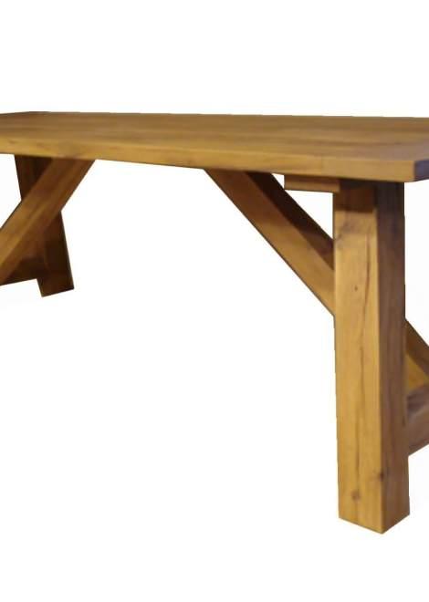 Grenen eetkamer tafel schraag oud vergrijsd grenen met een warme landelijke uitstraling - Tafel eetkamer industriele ...