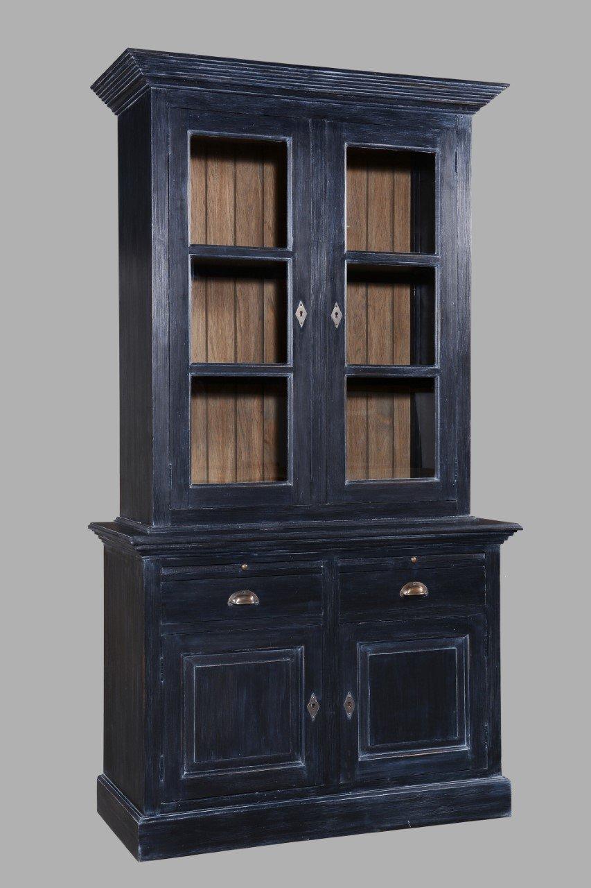 buffetkast oud zwart  Lifestylemaison industriele meubels