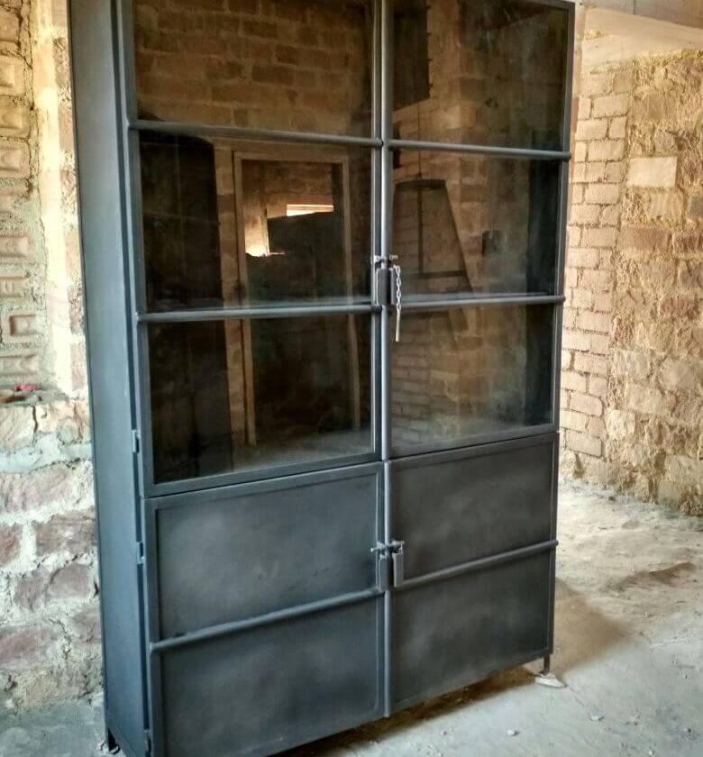 Wonderlijk industriele metalen wandkast - Lifestylemaison industriele meubels. CQ-55