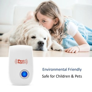 2018 UPGRADED] Pest Control Ultrasonic Repeller - Electronic Spider Repellent Plug In for Insects & Mice, Mouse, Roaches, Bugs, Flies, Fleas, Ants and Mosquitoes, Environment-friendly