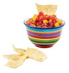 Bowl of homemade salsa recipe