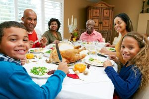 family holiday meal
