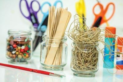 craft supplies to repurpose things