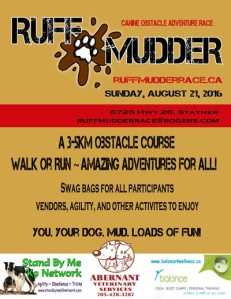 Ruff Mudder Canine Obstacle Adventure Race @ Abernant Veterinary Services   Stayner   Ontario   Canada