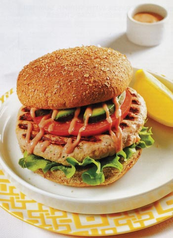 Salmon Burger with Dill