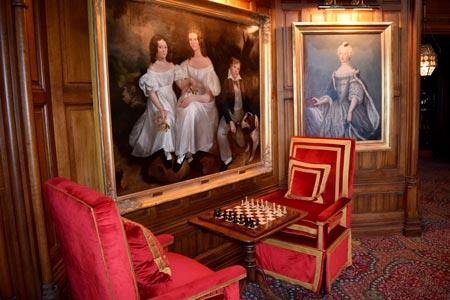 Games room in Ashford Castle