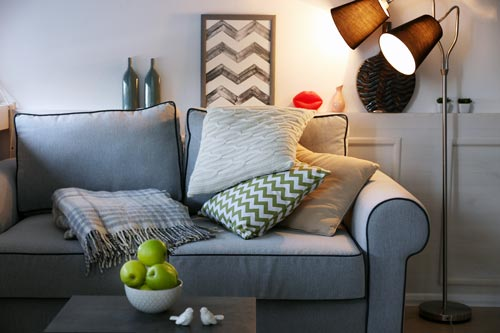 cozy spaces with pillows and lighting