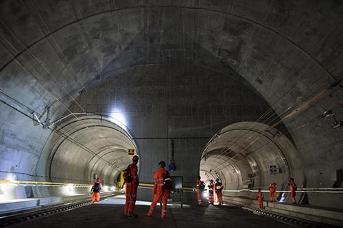 Swiss Gotthard Project tunnel