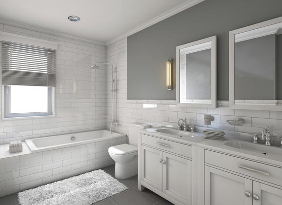 decorating with white - bathroom