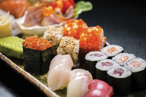sushi gaining in popularity