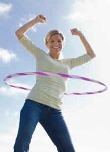 fun exercise hoola hoop