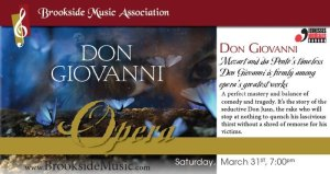 Brookside Music Association presents Don Giovanni @ The Midland Cultural Centre   Midland   Ontario   Canada