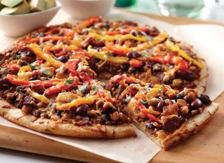 Southwestern Bean Mexican Pizza