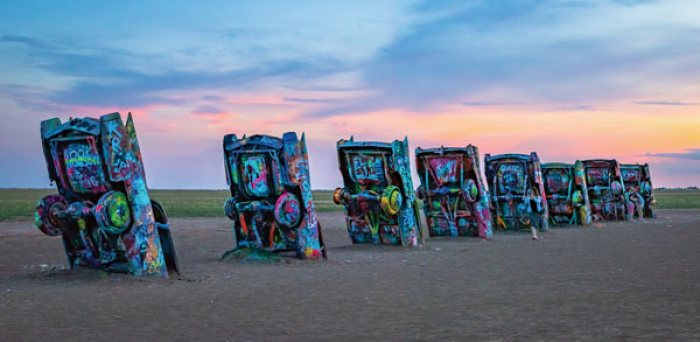 Cadillac Ranch on Route 66 west of Amarillo