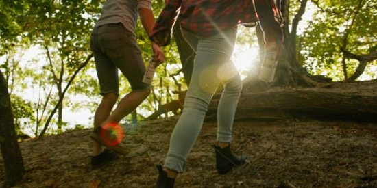 people hiking outdoors for exercise and connection to nature