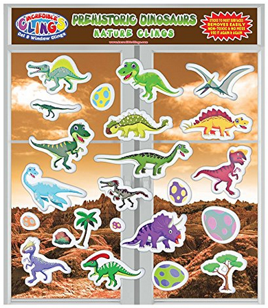 dinosaur window clings
