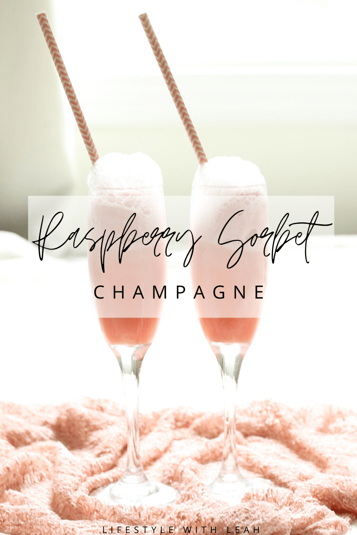 Raspberry Sorbet Champagne Featured Image