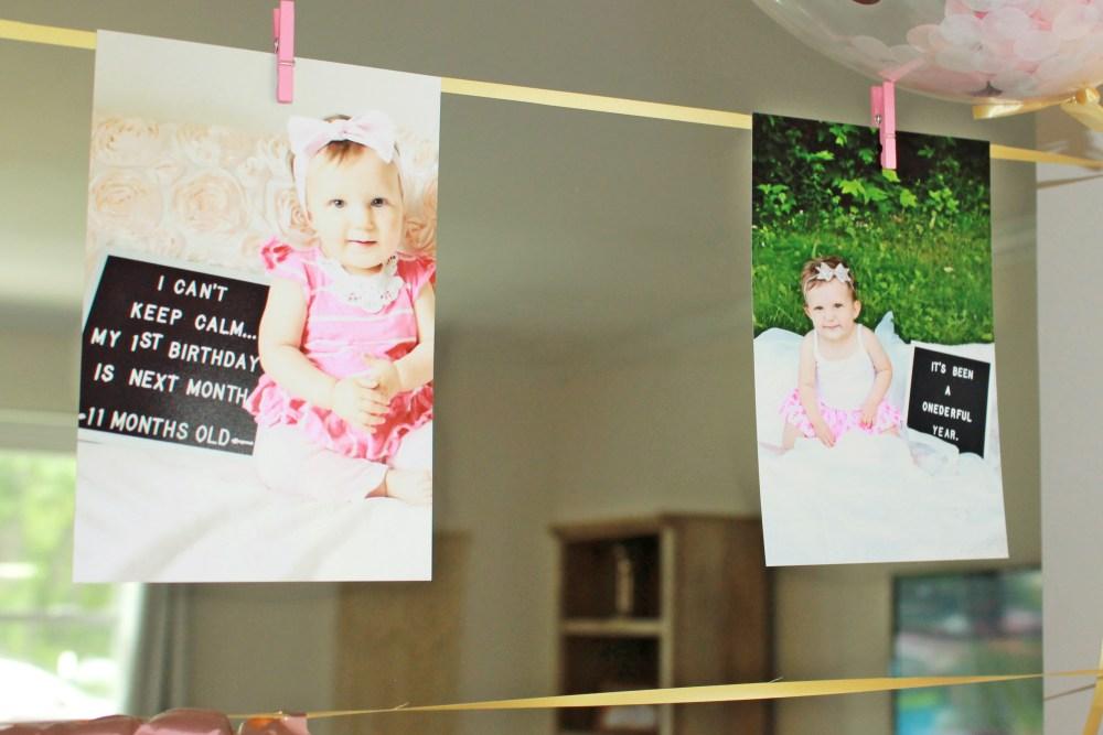 firt birthday donut grow up banner