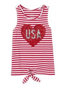 USA Shirt Fourth of July Outfits for Little Girls