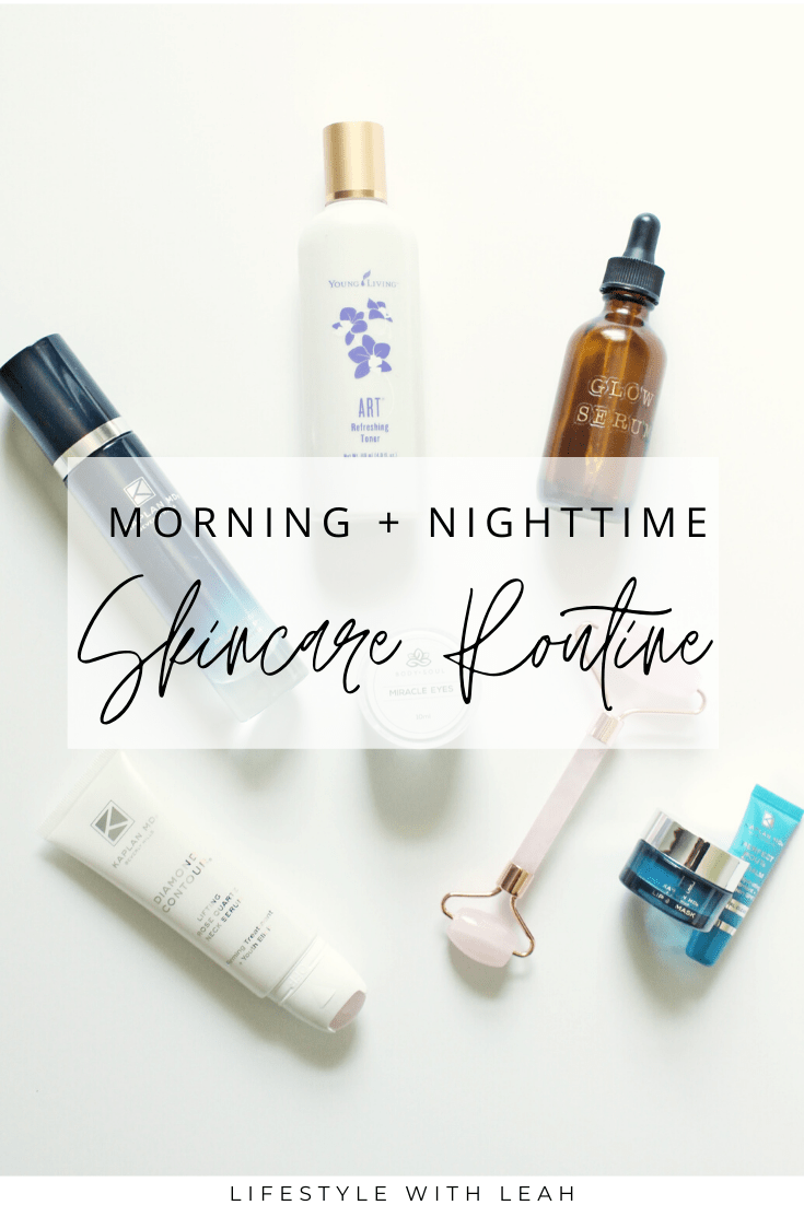 morning and nighttime skincare routine