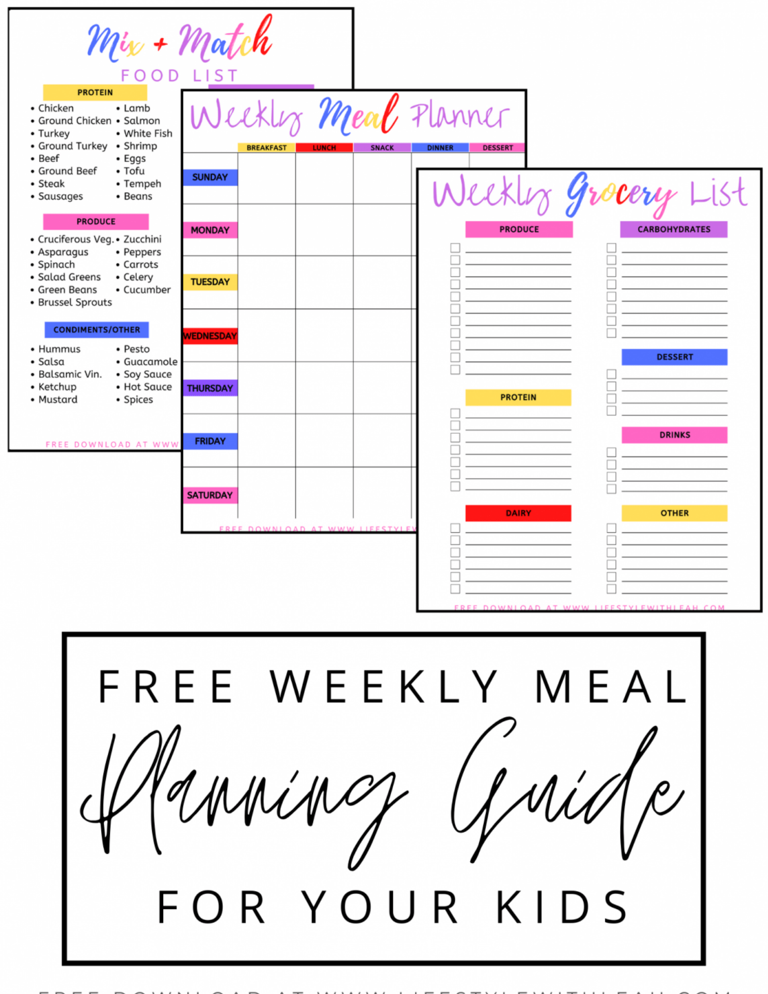 Meal Planning Guide for Kids