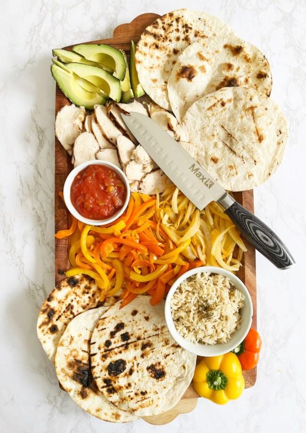 The Perfect Chicken Fajita Board