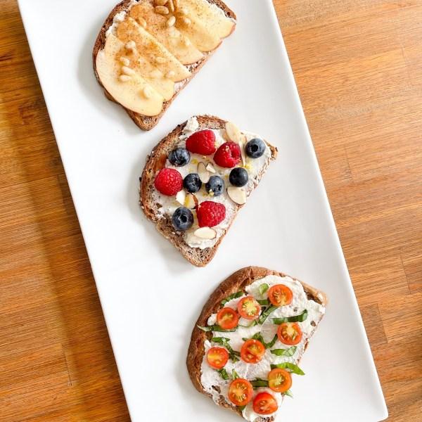 Delicious Ricotta Toast on Eatsane Bread