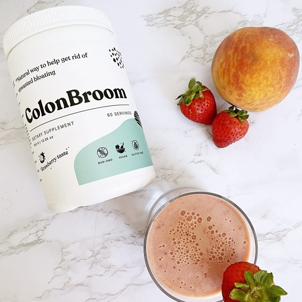 Strawberry and Peach Smoothie with ColonBroom