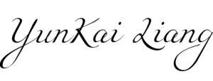 YunKai Liang Signature