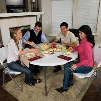 Lifetime 48-Inch Round Fold-In-Half Table (Light Commercial)