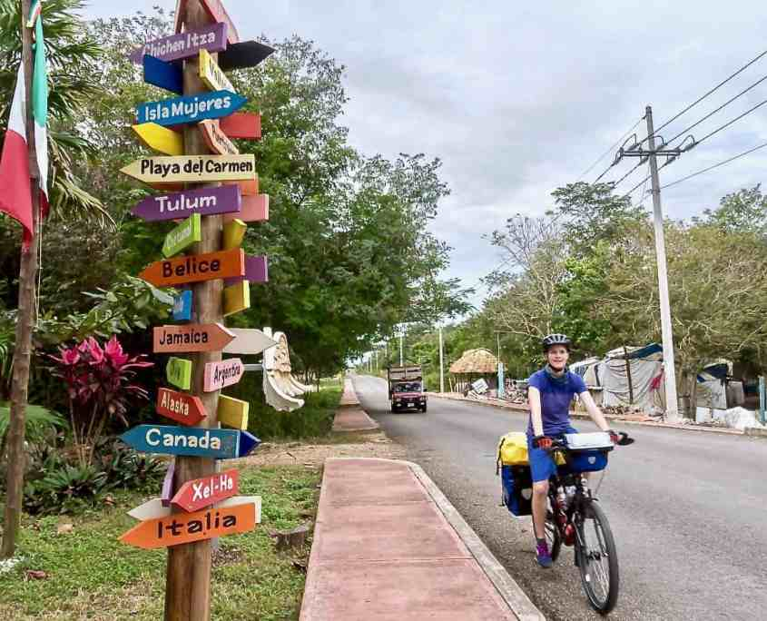 First experiences with bicycle touring - Cycling through one of the smaller villages