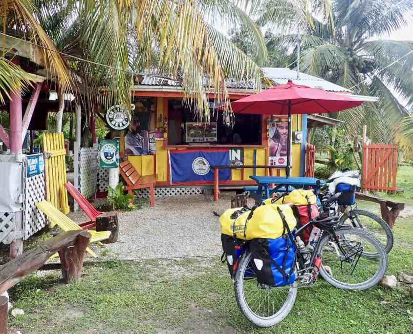 Bicycle touring through Belize - Slim'S bar and grill