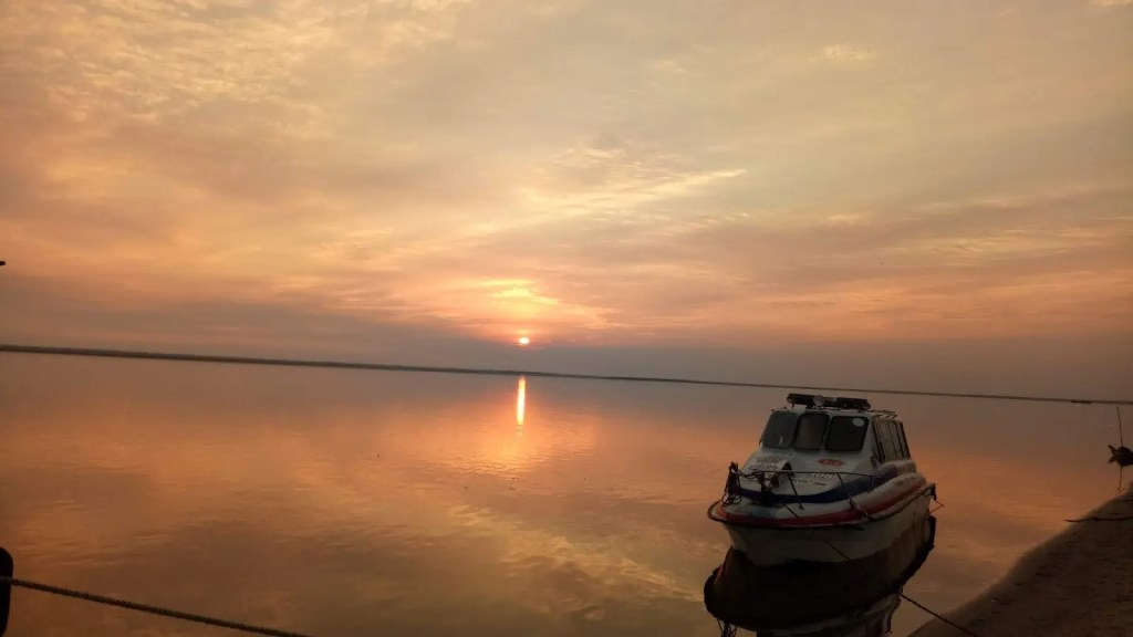 UNESCO majuli Island India sunset